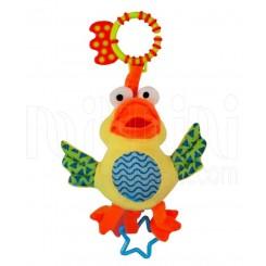 آویز عروسک پولیشی کالسکه نخکش ویبره دار اردک بی بی میکس Baby Mix