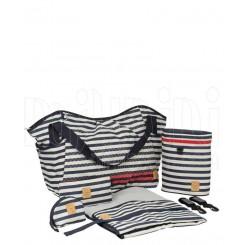 خريد اينترنتي سيسموني نوزاد ساک لوازم مادر و نوزاد مدل striped zigzag navyبرند لیسیگ LAESSIG نوزادی، نی نی لازم فروشگاه اینترنتی سیسمونی