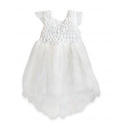 ست لباس عروس نگین دار نوزادی Beb bee