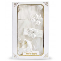 ست لباس عروس دنباله دار نوزادی Beb bee