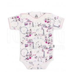 لباس نوزاد زیردکمه دار آستین کوتاه چرخ و فلک لیدولند Lido Land
