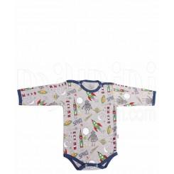 لباس نوزادی زیر دکمه دار آستین بلند سفینه لیدولند Lido Land