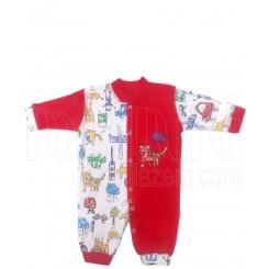لباس سرهمی نوزادی مداد رنگی قرمز لیدولند