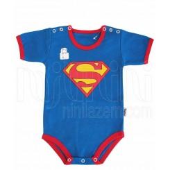 بادی آستین کوتاه نوزادی پسرانه طرح سوپرمن تاپ لاین Topline