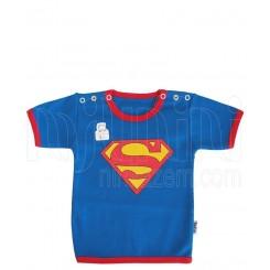 بلوز آستین کوتاه نوزادی پسرانه طرح سوپرمن تاپ لاین Topline
