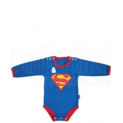 زیردکمه دار آستین بلند نوزادی پسرانه طرح سوپرمن تاپ لاین Topline