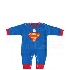 لباس سرهمی بدون جوراب نوزادی سوپرمن تاپ لاین Topline