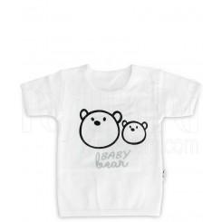 زیرپوش آستین کوتاه نوزادی مدل خرس تاپ لاین Topline