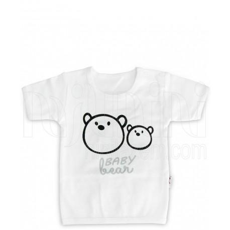 زیرپوش آستین کوتاه نوزادی مدل خرس تاپ لاین Topline - 1