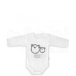 لباس نوزادی زیردکمه دار آستین بلند مدل خرس تاپ لاین Topline