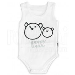 خريد اينترنتي سيسموني نوزاد بادی آستین رکابی نوزادی مدل خرس تاپ لاین Topline نوزادی، نی نی لازم فروشگاه اینترنتی سیسمونی