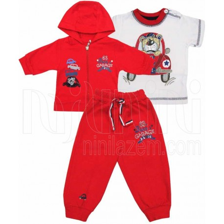 ست لباس پسرانه بلوز و شلوار و سویشرت قرمز مادرایران Mother Iran |