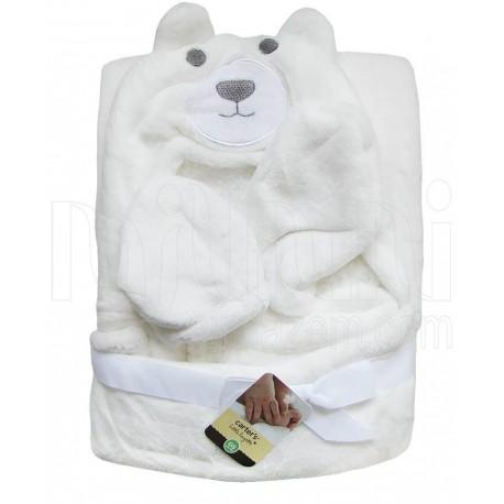 پتوی دورپیچ کلاهدار  نوزاد طرح خرس کارترز Carters