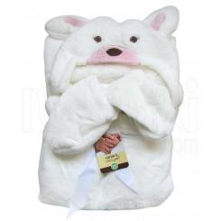 پتو دورپیچ نوزادی کلاهدار با پاپوش طرح سگ صورتی کارترز Carters