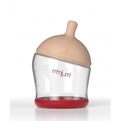 خريد اينترنتي سيسموني نوزاد شیشه شیر طلقی میمی جومی 120 میل MimiJumi - 1 نوزادی، نی نی لازم فروشگاه اینترنتی سیسمونی