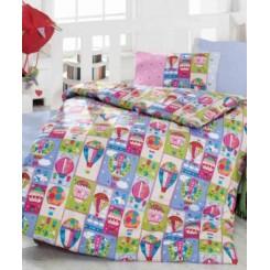 ست ملحفه نوزادی بالن رنگی کاتن باکس Cotton box Uçan Balon
