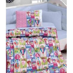 ست لحاف و ملحفه نوزادی بالن رنگی کاتن باکس Cotton box