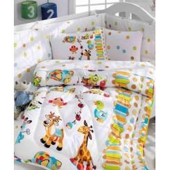 ست لحاف و ملحفه نوزادی فیل و زرافه کاتن باکس Cotton box