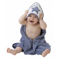 حوله کلاه دار نوزادی طرح ستاره سرمه ای پلی گرو Playgro