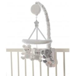 آویز تخت موزیکال سفید پلی گرو Playgro