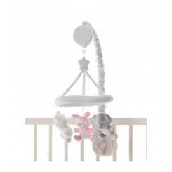 آویز موزیکال تخت نوزاد رنگ صورتی پلی گرو Playgro