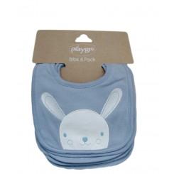 پیشبند نوزادی کوچک 6 عددی خرگوش سرمه ای پلی گرو Playgro
