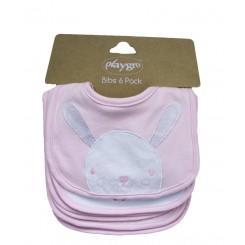 پیشبند نوزاد کوچک 6 عددی خرگوش صورتی پلی گرو Playgro