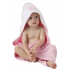 حوله نوزادی کلاه دار طرح ستاره صورتی پلی گرو Playgro