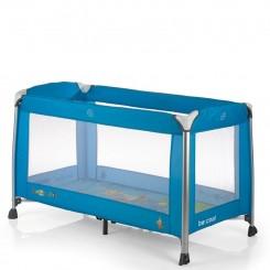 تخت و پارک رنگ آبی با آویز تخت موزیکال بی کول Be Cool