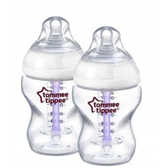 خريد اينترنتي سيسموني نوزاد شیشه شیر دو عددی 260میل ضدنفخ تامی تیپ Tommee Tippee - 1 نوزادی، نی نی لازم فروشگاه اینترنتی سیسمونی