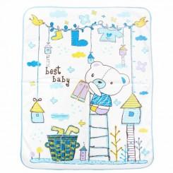 زیرانداز تعویض بزرگ نوزاد بست بی بی طرح خرس آبی Best baby