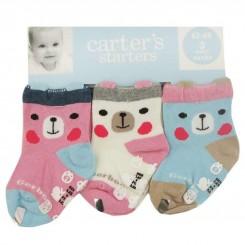 جوراب سه عددی استپ دار کارترز طرح خرس کد1 Carters