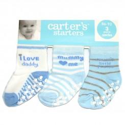 خريد اينترنتي سيسموني نوزاد جوراب پسرانه استپ دار سه عددی کارترز Carters نوزادی، نی نی لازم فروشگاه اینترنتی سیسمونی