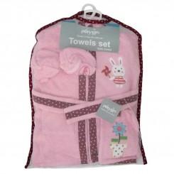 حوله لباسی نوزادی پنج تکه پلی گرو طرح خرگوش Playgro