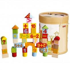 لگو چوبی بازی اعداد گلدن کی سازه 100تکه Goldenkey