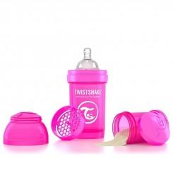 شیرخوری ضدنفخ تویست شیک 180 میل سرخابی Twistshake