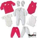 لباس نوزادی دخترانه طرح برگ ریز تاپلاین