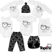 لباس نوزادی طرح خرس تاپ لاین