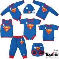 لباس نوزادی طرح سوپرمن تاپ لاین