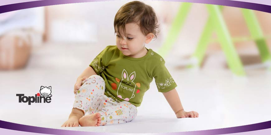لباس نوزادی تاپ لاین طرح حیوانات