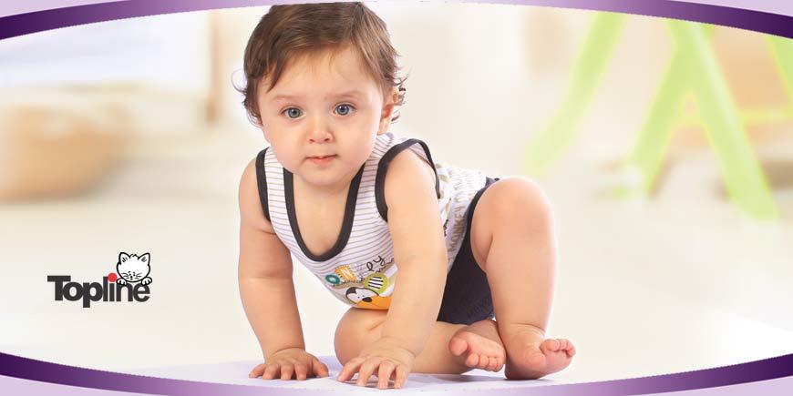 زیرپوش نوزادی طرح میمون تاپ لاین