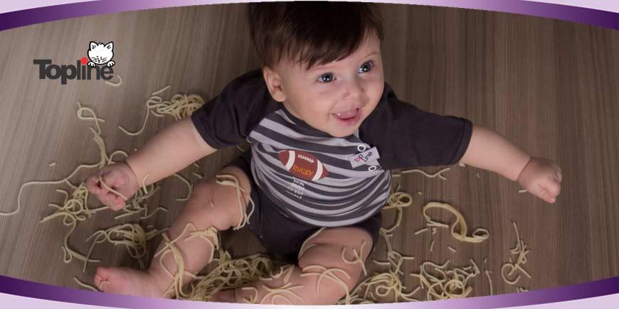 زیرپوش نوزادی پسرانه تاپ لاین