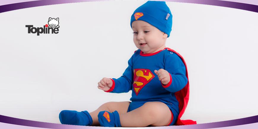 لباس سوپرمن بچگانه تاپ لاین