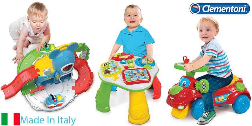 اسباب بازی آموزشی کودک دخترانه و پسرانه کلمنتونی ایتالیا