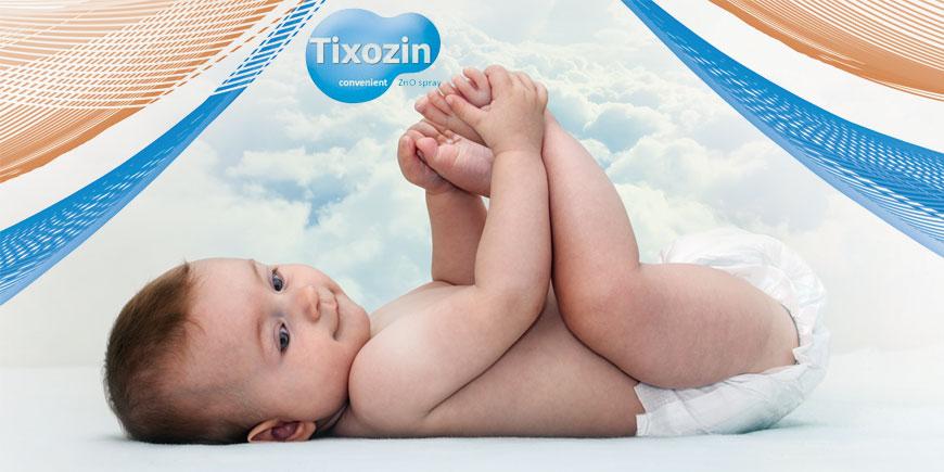 اسپری سوختگی نوزاد تیکسوزین tixozin