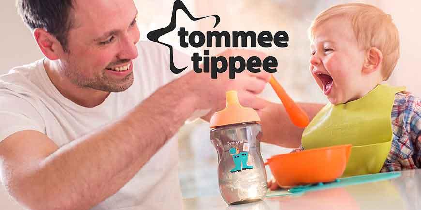 خرید اینترنتی شیشه شیر و پستانک تامی تیپ