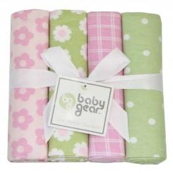 خريد اينترنتي سيسموني نوزاد خشک کن 4 عددی نوزادی طرح گل Baby gear نوزادی، نی نی لازم فروشگاه اینترنتی سیسمونی