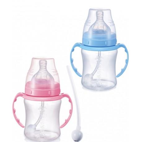 شیشه شیر دسته دار 360درجه 180میل پهن بی بی سیل Babisil