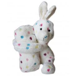 خريد اينترنتي سيسموني نوزاد پتو خرگوش خالدار سفید Happy Health نوزادی، نی نی لازم فروشگاه اینترنتی سیسمونی