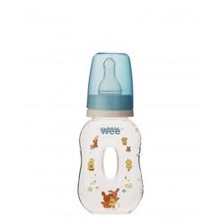 خريد اينترنتي سيسموني نوزاد شیشه شیر طلقی وسط خالی 125cc وی Wee نوزادی، نی نی لازم فروشگاه اینترنتی سیسمونی